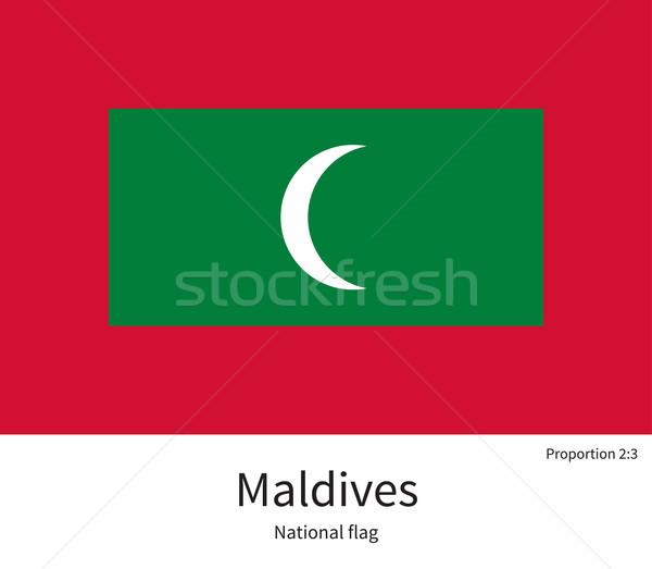 флаг Мальдивы исправить элемент цветами образование Сток-фото © tkacchuk