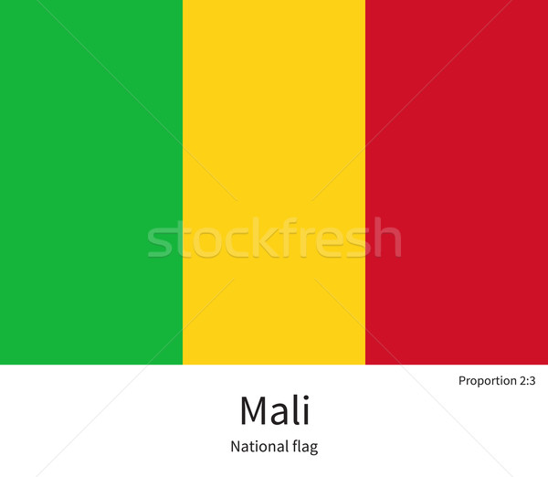 National flag of Mali with correct proportions, element, colors Stock photo © tkacchuk