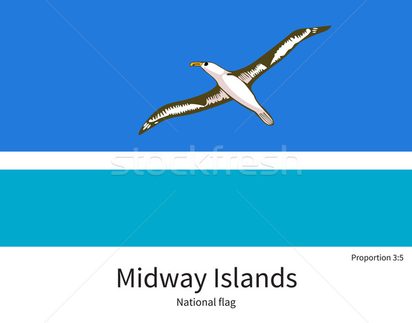National flag of Midway Islands with correct proportions, element, colors Stock photo © tkacchuk