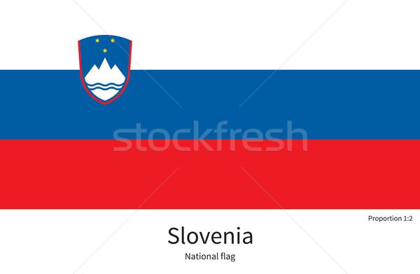 Bandera Eslovenia corregir elemento colores educación Foto stock © tkacchuk