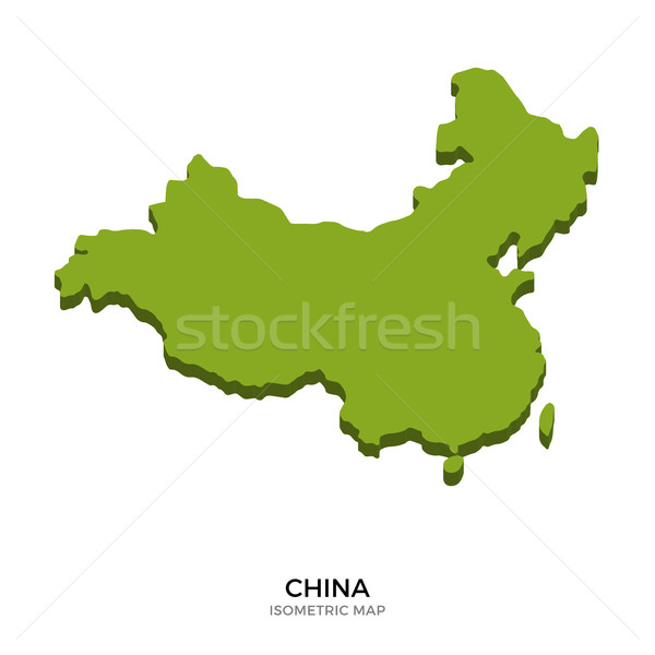 Isometric map of China detailed vector illustration Stock photo © tkacchuk