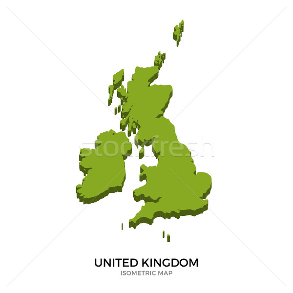Isometric map of United Kingdom detailed vector illustration Stock photo © tkacchuk