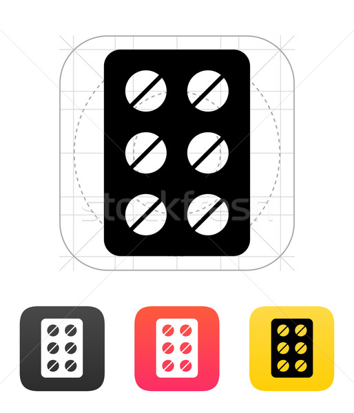 Pack pills icon. Vector illustration. Stock photo © tkacchuk