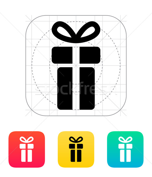 Stock photo: Small gift box icons on white background.