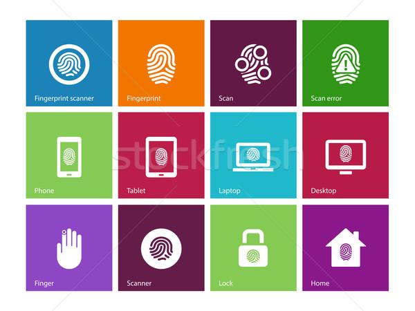 Palców ikona kolor strony technologii telefon Zdjęcia stock © tkacchuk