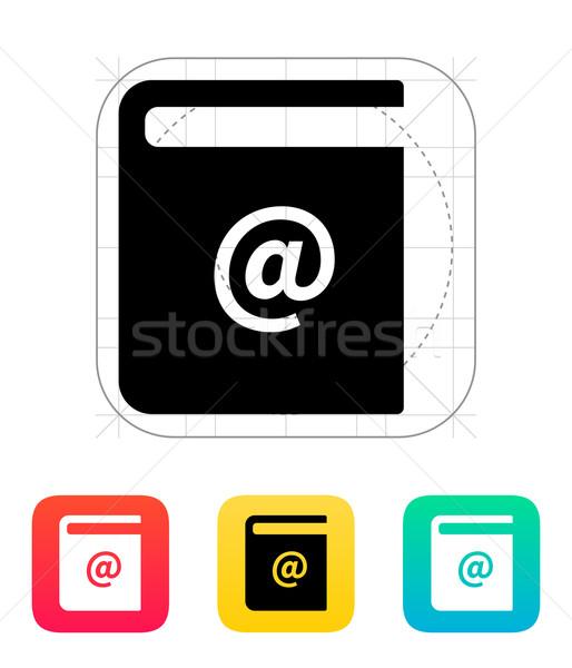Address book icon. Stock photo © tkacchuk
