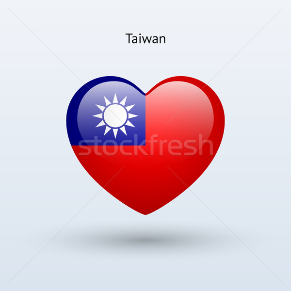 Love Taiwan symbol. Heart flag icon. Stock photo © tkacchuk