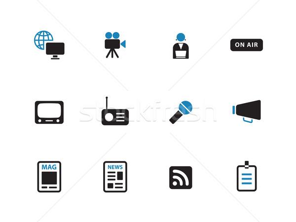 Media duotone icons on white background. Stock photo © tkacchuk