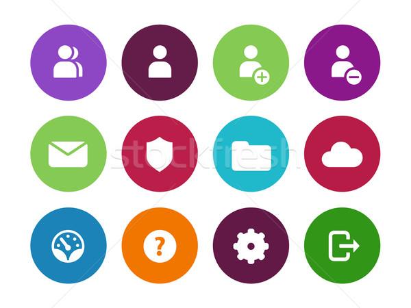 User Account circle icons on white background. Stock photo © tkacchuk