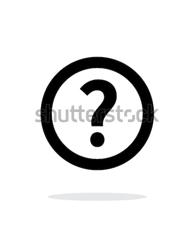 Question icon on white background. Stock photo © tkacchuk