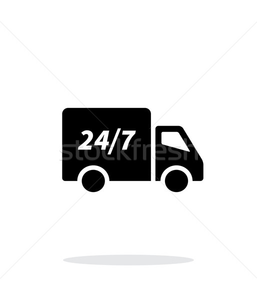Delivery service seven days a week icon on white background. Stock photo © tkacchuk