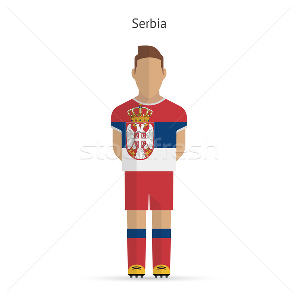 Serbia football player. Soccer uniform. Stock photo © tkacchuk