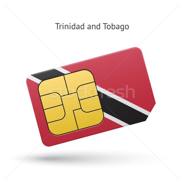 Trinidad and Tobago mobile phone sim card with flag. Stock photo © tkacchuk