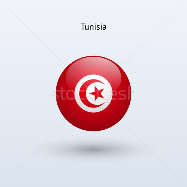 Tunisia round flag. Vector illustration. Stock photo © tkacchuk