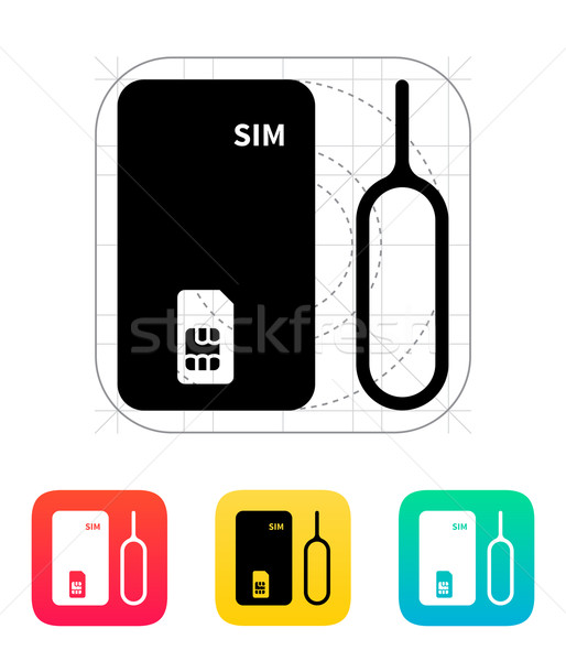 Standaard icon teken mobiele digitale informatie Stockfoto © tkacchuk