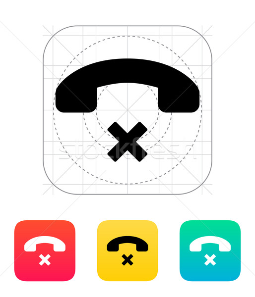 Decline call icon. Stock photo © tkacchuk
