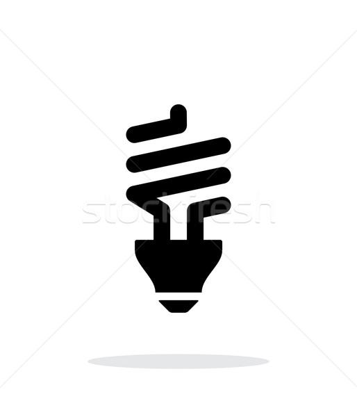 CFL bulb icon on white background. Stock photo © tkacchuk