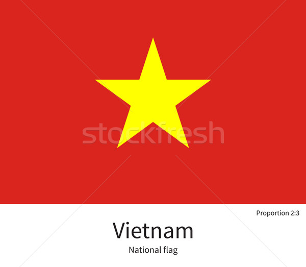 National flag of Vietnam with correct proportions, element, colors Stock photo © tkacchuk