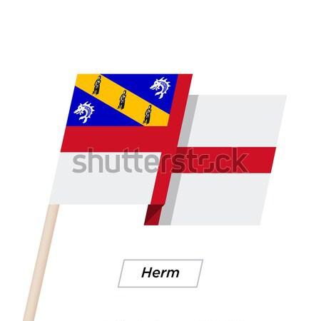 Kredi kartı bayrak banka sunumlar iş yalıtılmış Stok fotoğraf © tkacchuk