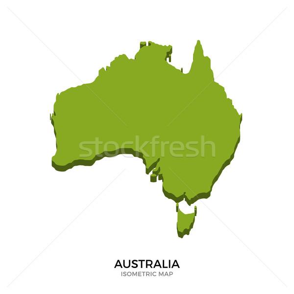 Isométrica mapa Austrália detalhado isolado 3D Foto stock © tkacchuk