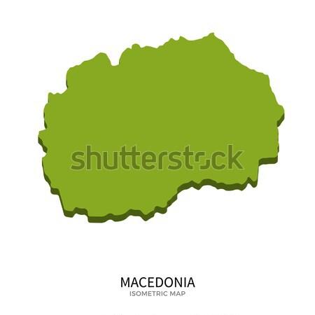 Isometric map of Poland detailed vector illustration Stock photo © tkacchuk