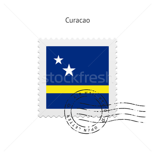 Curacao Flag Postage Stamp. Stock photo © tkacchuk