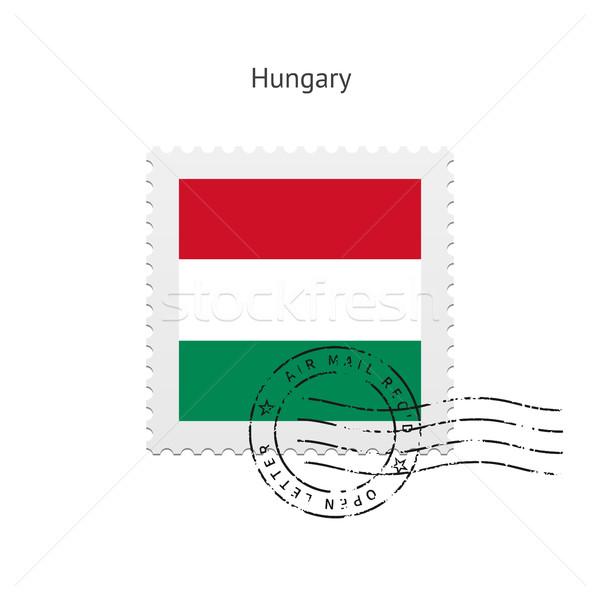 Hungary Flag Postage Stamp. Stock photo © tkacchuk