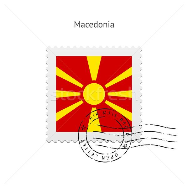 Bandiera bianco segno lettera timbro Foto d'archivio © tkacchuk