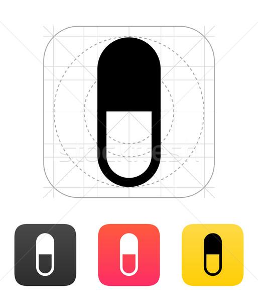 Pill Capsule icon. Vector illustration. Stock photo © tkacchuk