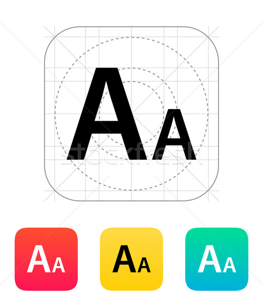 Font size icon. Stock photo © tkacchuk