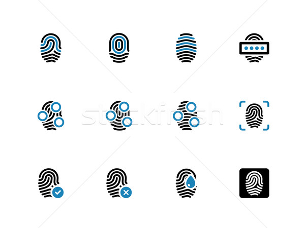 Fingerprint duotone icons on white background. Stock photo © tkacchuk