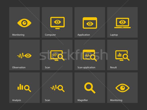 モニタリング アイコン 観察 コンピュータ 眼 ウェブ ストックフォト © tkacchuk