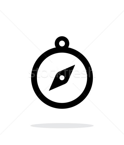 Hand compass icon on white background. Stock photo © tkacchuk