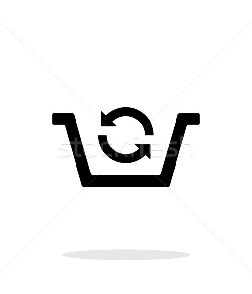 Shopping basket exchange simple icon on white background. Stock photo © tkacchuk