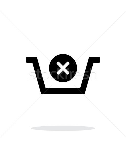 Shopping basket delete simple icon on white background. Stock photo © tkacchuk