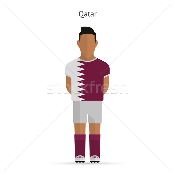 Qatar football uniforme résumé fitness Photo stock © tkacchuk