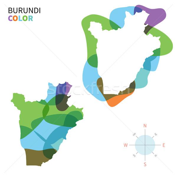 Foto stock: Abstrato · vetor · cor · mapa · Burundi · transparente