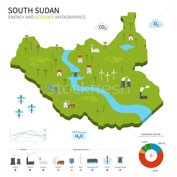 Energie industrie ecologie zuiden Soedan vector Stockfoto © tkacchuk