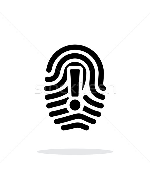 Attention sign on fingerprint icon on white background. Stock photo © tkacchuk