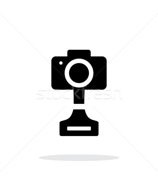 SLR photo award simple icon on white background. Stock photo © tkacchuk