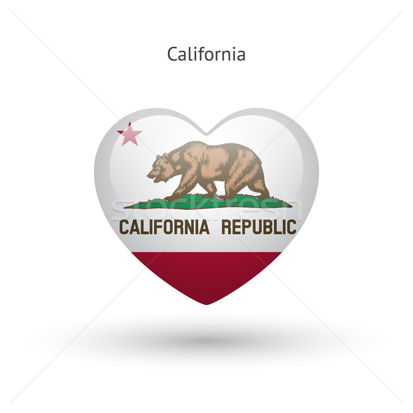 Amour Californie symbole coeur pavillon icône Photo stock © tkacchuk
