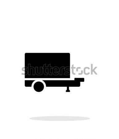 Trailer simple icon on white background. Stock photo © tkacchuk
