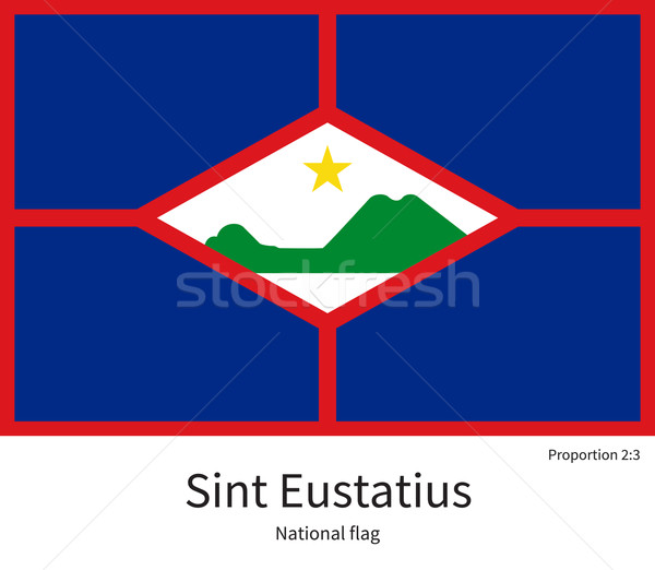 National flag of Sint Eustatius with correct proportions, element, colors Stock photo © tkacchuk