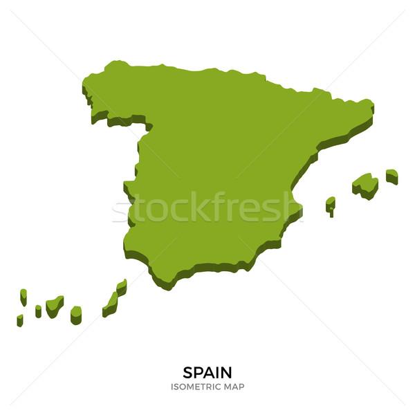 Isometric map of Spain detailed vector illustration Stock photo © tkacchuk