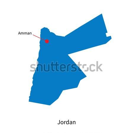 Szczegółowy wektora Pokaż Jordania miasta edukacji Zdjęcia stock © tkacchuk