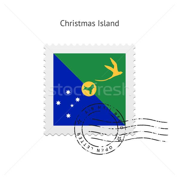 Christmas Island Flag Postage Stamp. Stock photo © tkacchuk