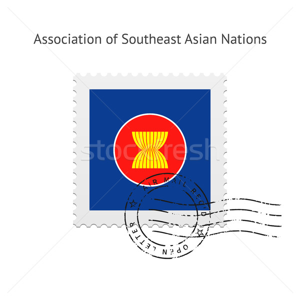 Association of Southeast Asian Nations Flag Postage Stamp. Stock photo © tkacchuk