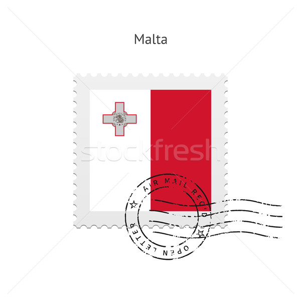 Malta bandiera bianco segno lettera Foto d'archivio © tkacchuk