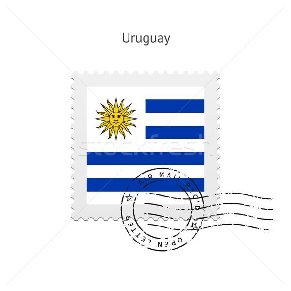 Uruguay pavillon blanche signe lettre Photo stock © tkacchuk