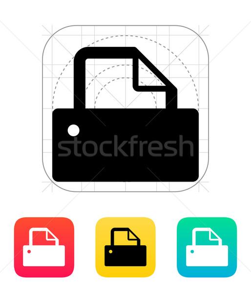 Printer icon. Stock photo © tkacchuk